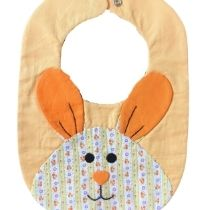 Bavoir Lapin Orange